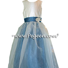 BLUE FLOWER GIRL DRESSES