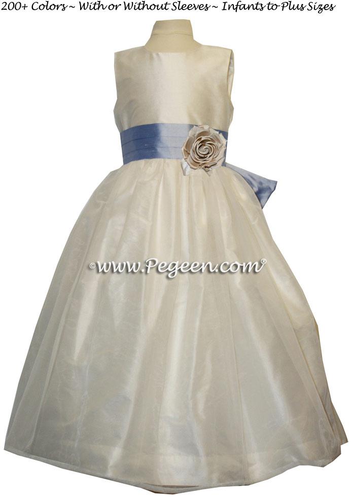 Wisteria (light blueish purple) Silk Flower Girl Dresses Style 394