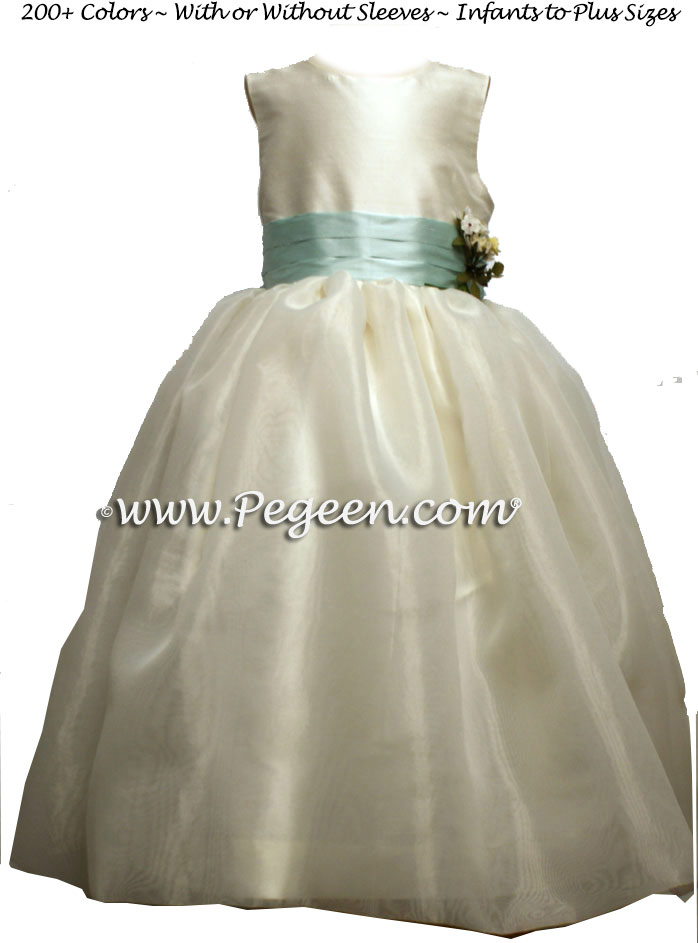 Bay (Capris Blue) Silk Flower Girl Dresses For Your Wedding Party Style 359