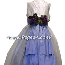 periwinkle flower girl dresses