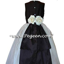 SEMI-SWEET chocolate brown FLOWER GIRL DRESSES