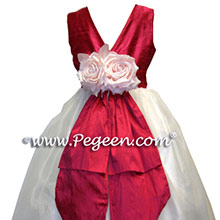 ROUGE AND NEW IVORY CUSTOM Flower Girl Dresses