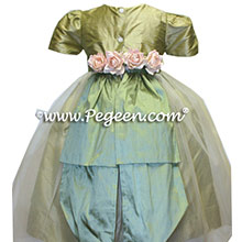 Sage green tulle dresses