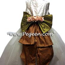 PEARL TULLE CUSTOM FLOWER GIRL DRESSES