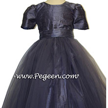 Bill Levkoff eurolilac tulle flower girl dresses