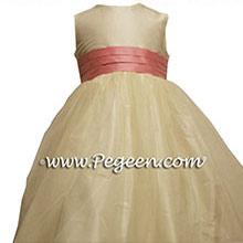 LOLLIPOP PINK AND IVORY flower girl dresses