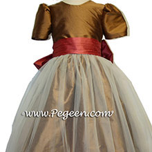 flower girl dresses for fall weddings in fall colors