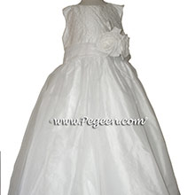 Antique White CUSTOM Flower Girl Dresses STYLE 355 BY PEGEEN
