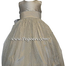 sparkle tulle in platinum and silver tulle flower girl dresses