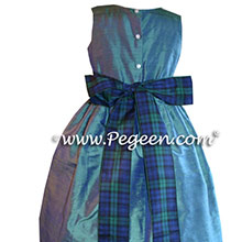 CUSTOM HAZEL SCOTTISH TARTAN PLAID FLOWER GIRL DRESSES