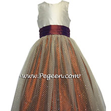tulle ballerina dotted swiss and  silk  flower girl dresses