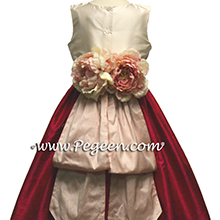 RASPBERRY, SHELL PINK AND BABY LIGHT PINK flower girl dresses