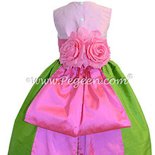 APPLE GREEN SHOCK AND BUBBLEGUM Flower Girl Dresses