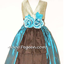 BALTIC AND BROWN AND SAGE GREEN CUSTOM Flower Girl Dresses