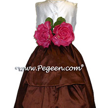 chocolate brown  flower girl dresses