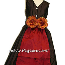 Semi-sweet and claret red Flower Girl Dresses