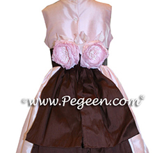 PEONY AND PINK flower girl dresses