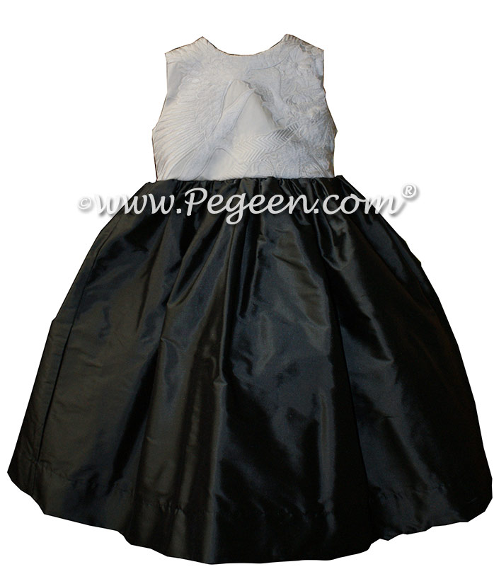 Pewter Gray Silk Flower Girl Dresses With Customers Special Chinese Marriage Robe