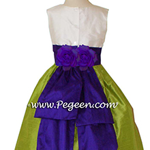 PURPLE AND GREEN CUSTOM Flower Girl Dresses