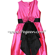 hot pink shock CUSTOM FLOWER GIRL DRESSES