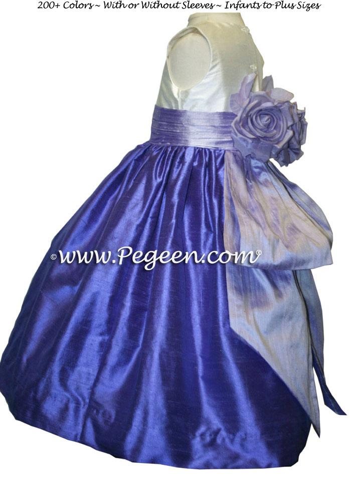 Lilac and Violet pink Flower Girl Dresses