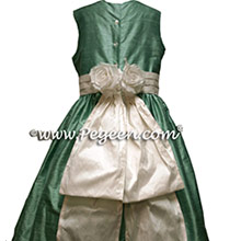 Waterfall blue green flower girl dresses