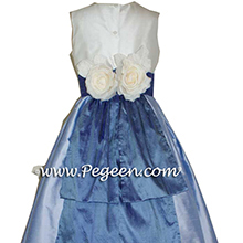WISTERIA PURPLE AND HYDRANGEA BLUE Flower Girl Dresses
