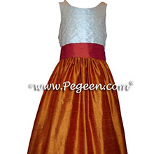 pumpkin and spice flower girl dresses
