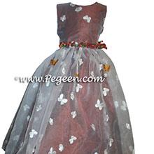 Rust Silk Flower Girl Dresses