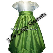 Sprite green and ivory flower girl dresses