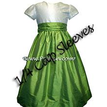 Sprite green and ivory flower girl dresses