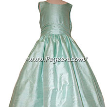 Jr Bridesmaids Dresses in Aqualine by PEGEEN