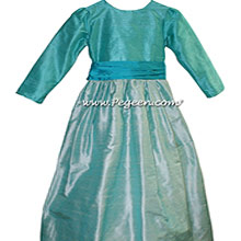 Jr BRIDESMAIDS DRESSES in Bermuda and Seaside Teal