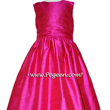 Boing (hot pink) Silk Flower Girl Dresses style 388 by Pegeen