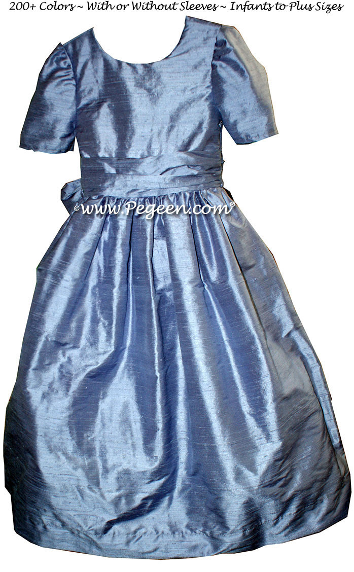 Euro Peri custom silk flower girl dress Style 388