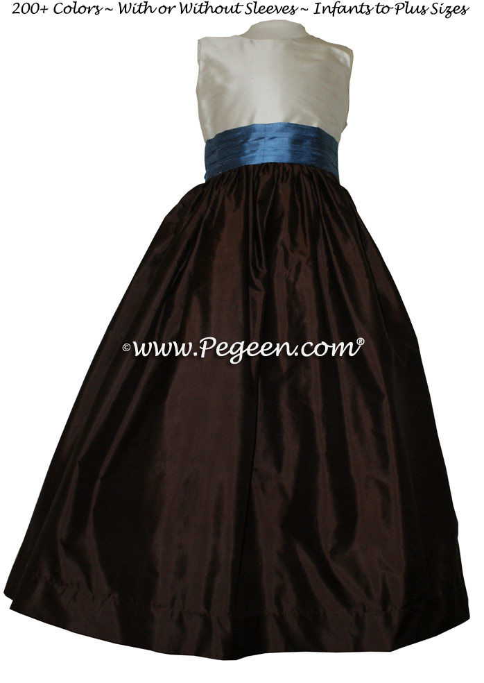 semi-sweet chocolate brown and flower girl dresses