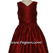 CRANBERRY (GARNET RED) flower girl dresses