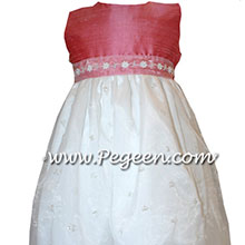 PINK CUSTOM FLOWER GIRL DRESSES