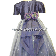 euro lilac silk flower girl dresses