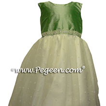 leaf green nile green flower girl dresses