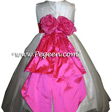 CUSTOM SHOCKING PINK Flower Girl Dresses