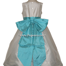 Bahama Breeze Silk Flower Girl Dresses by PEGEEN STYLE 301