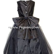 black tulle flower girl dresses