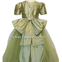 SAGE GREEN TULLE FLOWER GIRL DRESSES
