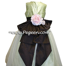 summer green and semi sweet flower girl dresses