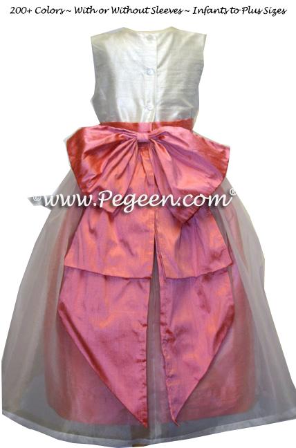Sunset and New Ivory Ballerina style Flower Girl Dresses Style 394