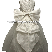 white cinderella bow communion dresses
