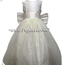 WHITE SILK silk flower girl dresses