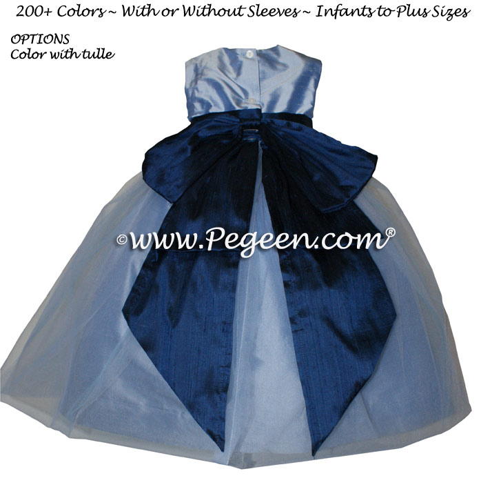Flower Girl Dresses Wisteria (light blueish purple) Silk Style 394 | Pegeen