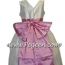 Rose pink silk matching priscilla of boston flower girl dresses